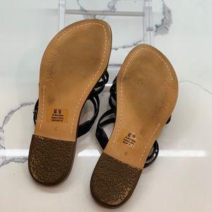 Sam Edelman Shoes - Sam Edelman black flat Georgette sandal Size 6 EUC